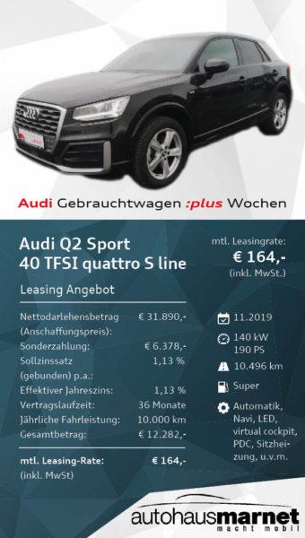 Angebot 3- Audi Gebrauchtwagen :plus Wochen Q2 Sport