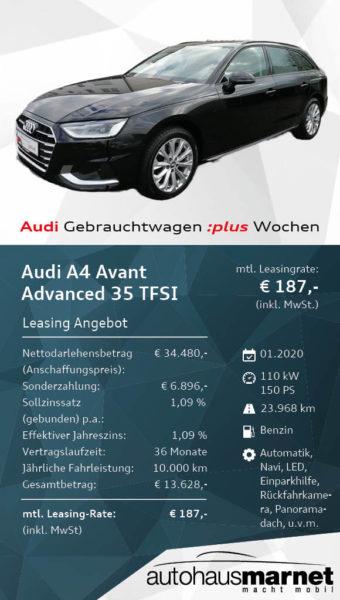 Angebot 5- Audi Gebrauchtwagen :plus WochenAudi A4 Avant_WDW45277_web